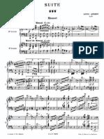 Aubert - Suite Brève, Op. 6 (2 Pianos)