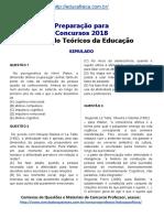 Simulado Concurso Professor de Educação Física Questões Concurso Pedagogia Simulado Teóricos Da Educação.docx 2