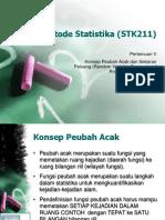Slide05 - Konsep Peubah Acak Dan Sebaran Peubah Acak
