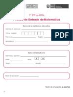 Prueba Entrada Matematica 1er Grado (2)