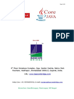 Core Java Course Content From Bascom Compputer