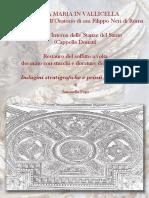 Cappella Donati-Indagini Stratigrafiche e Prime Operazioni--