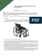 Projeto e otimização de cadeira de rodas
