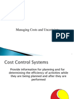 6 Cost Control and Monitoring