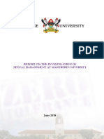 Makerere University Committee Investigating Sexual Harassment FINAL Report June 2018