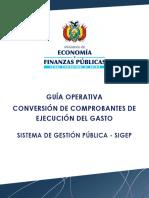 GuiaOperativa Conversión de Comprobantes EGA2017
