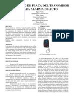Arreglo de Placa Del Transmisor Para Alarma de Auto (1)