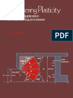 R. a. C. Slater Auth. Engineering Plasticity Theory and Application to Metal