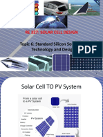 RE 327_Topic_06_Standard Silicon Solar Cells Technology and Design