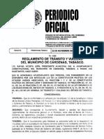 Reglamento de Transito y Vialidad Del Municipio de Cardenas Tabasco 2017