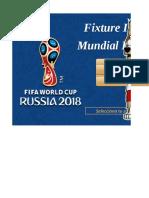 Fixture Mundial Rusia