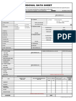 CS Form No. 212 Revised Personal Data Sheet New