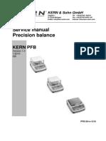 Kern PFB Precision Balance - Service Manual