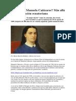 Quién Fue Manuela Cañizares
