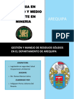 Gestión y Manejo de Residuos Sólidos en El Departamento de Arequipa