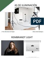 Esquemas de iluminación fotografía