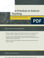 Best Practices in Science Teaching