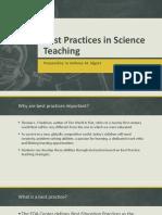 Best Practices in Science Teaching