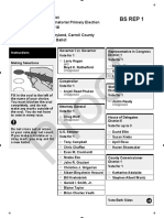 Carroll County Sample Ballots