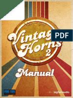 Vintage Horns Manual