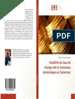 LIVRE Volatilité Du Taux de Change Réel Et Croissance Économique Au Cameroun