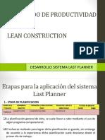Desarrollo Last Planner System