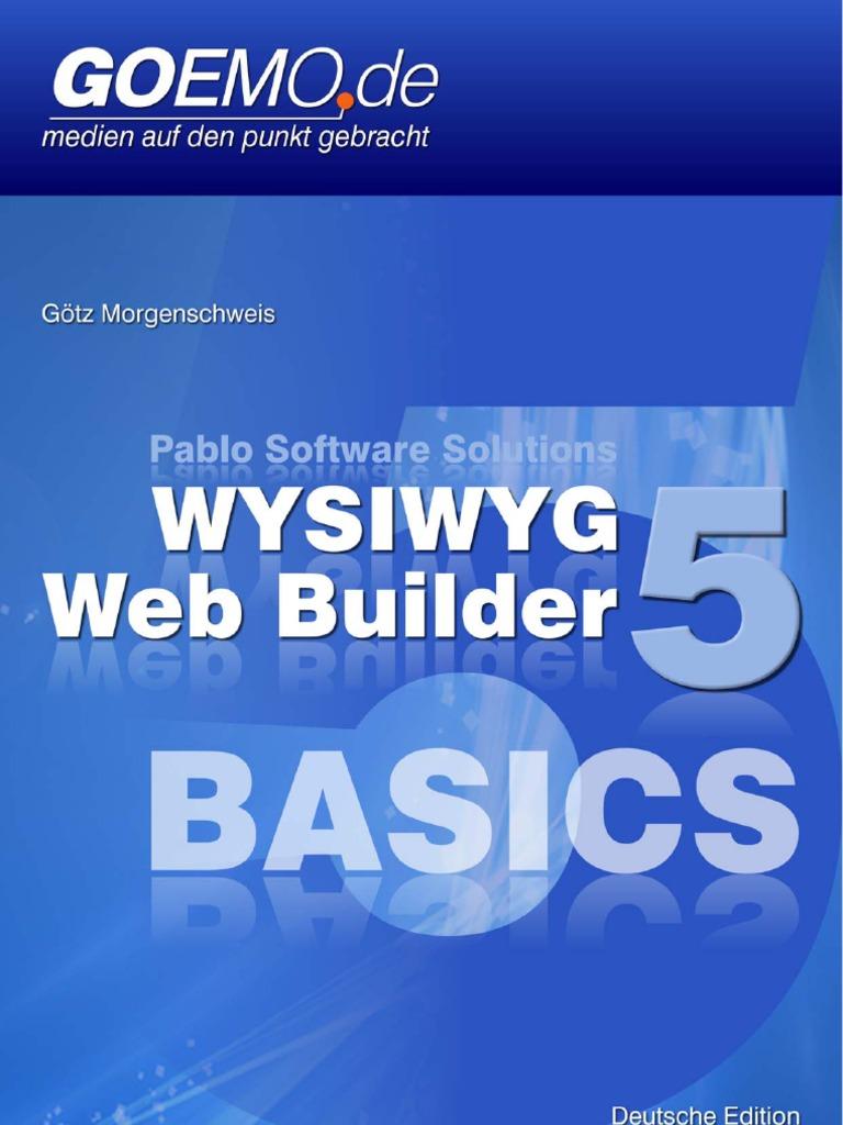 WYSIWYG Web Builder 5 Basics - Deutsch