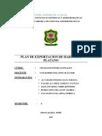 Plan de Exportacion - Harinde Platano