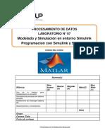 Lab 07- Matlab Modelado y Simulasion, Programacion Con Simulink y Stateflow