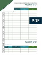 Biweekly Work Schedule Template