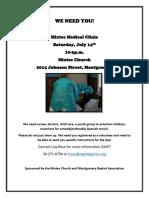 Mixtec Medical Clinic Volunteer