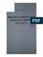 M. Imamović-pravni Položaj i Unutrašnjo Politički Razvoj BiH