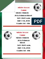 July Soccer Camp Flyer