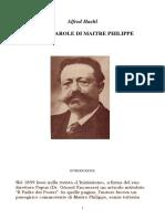 Vita e Parole Di Maitre Philippe
