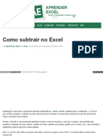 Www Aprenderexcel Com Br 2015 Dicas Como Subtrair No Excel u