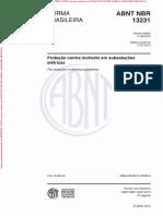 NBR13231 2015 - Proteção Contra Incêndio Em Subestações Elétricas