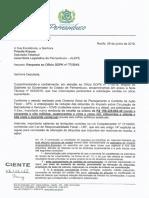 Resposta Governo de PE ICMS Combustíveis