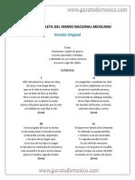 Letra Completa Del Himno Nacional Mexicano Version Original