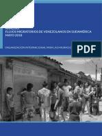 Flujo de Venezolanos Hacia Perú, Colombia y Brasil Durante Mayo (INFORME)