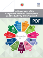 Major achievements of the Bangladesh Skills for Employment and Productivity (B-SEP) project