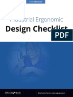 Industrial Ergonomic Design Checklist