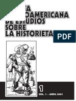 Revista Latinoamericana de estúdios sobre la historieta de Cuba volume 1