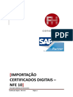 BASIS - NFE - Procedimento Importação Certificado Digital - NFe 10 0