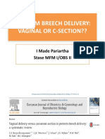 Preterm Breech Delivery
