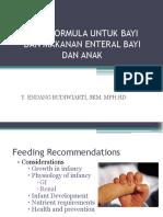 Susu Formula Untuk Bayi Dan Makanan Enteral Bayi