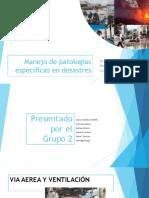 Manejo de Patologías Específicas y Epidemiología Del Desastre - 2018
