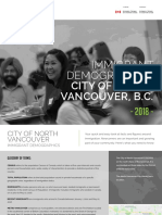 City of North Vancouver Immigrant Demographic Profile 2018