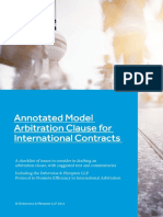 Annotated Model Arbitration Clause for International Contracts Recent