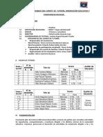 Plan Anual de Trabajo Del Comité de Tutoría y Orientación Educativa Cajamarquilla