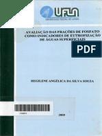 DISSERTAÇÃO_Avaliação Das Frações de Fosfato Como Indicadores de Eutrofízação de Águas Superficiais